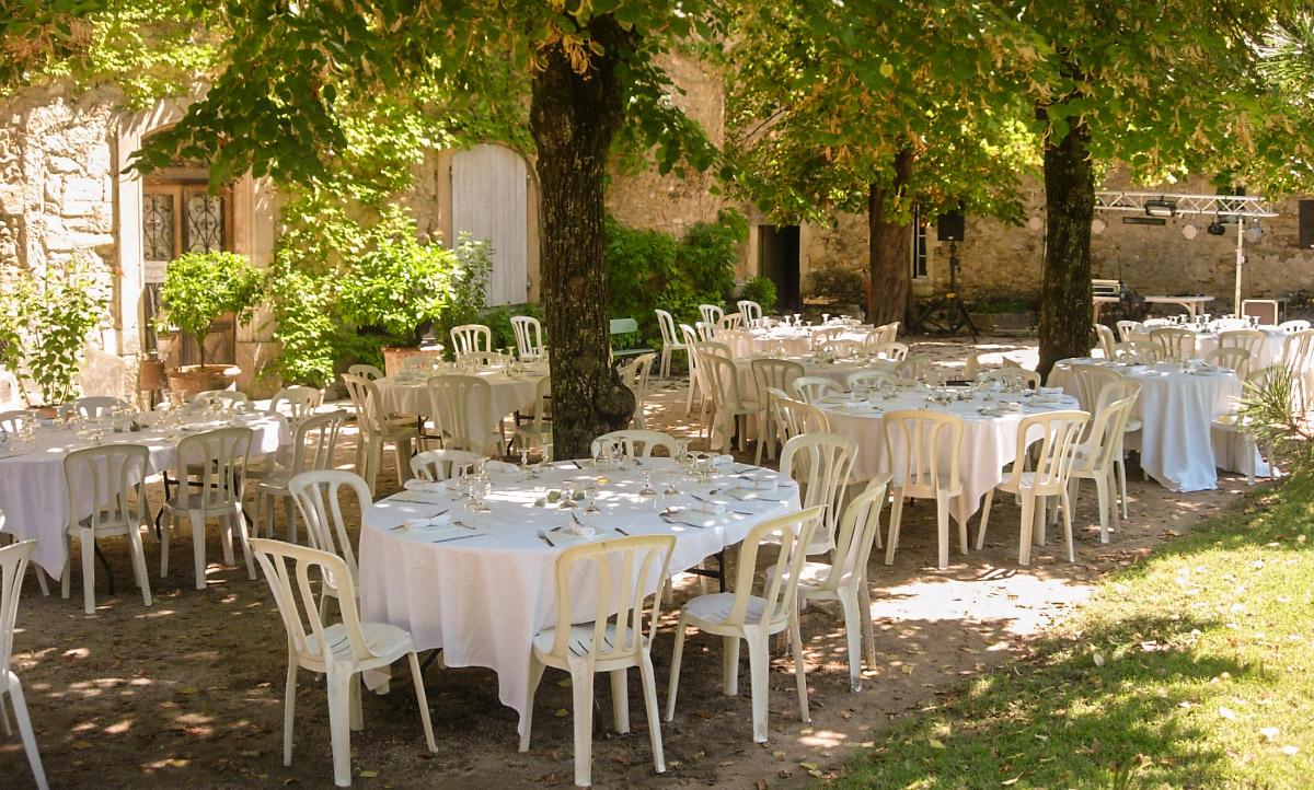 Jardin réception mariage Gard